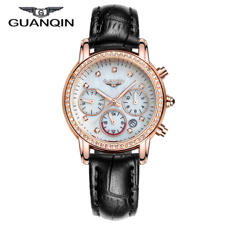 GUANQIN GQ15001 Dressport Relogio feminino fashion watch women waterproof diamond quartz watches leather bracelet relojes mujer new cool fashion world map watch watches women men leather watch quartz relojes mujer relogio feminino gift free shipping