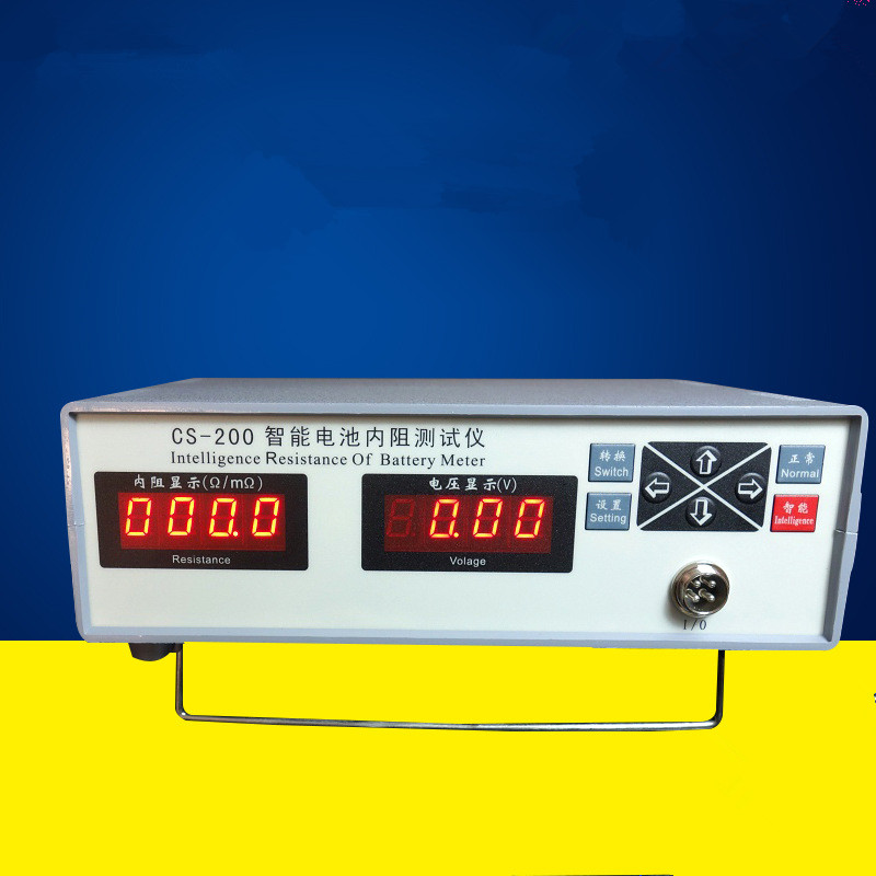CS-200 Battery Tester Inteligence resistance of battery meter Internal resistance tester Voltage meter battery internal resistance meter all sun em3610 battery voltage temperature coefficient automotive tester free post