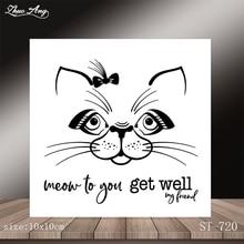 New white cat design transparent seal / DIY scrapbook album decoration card making seamless