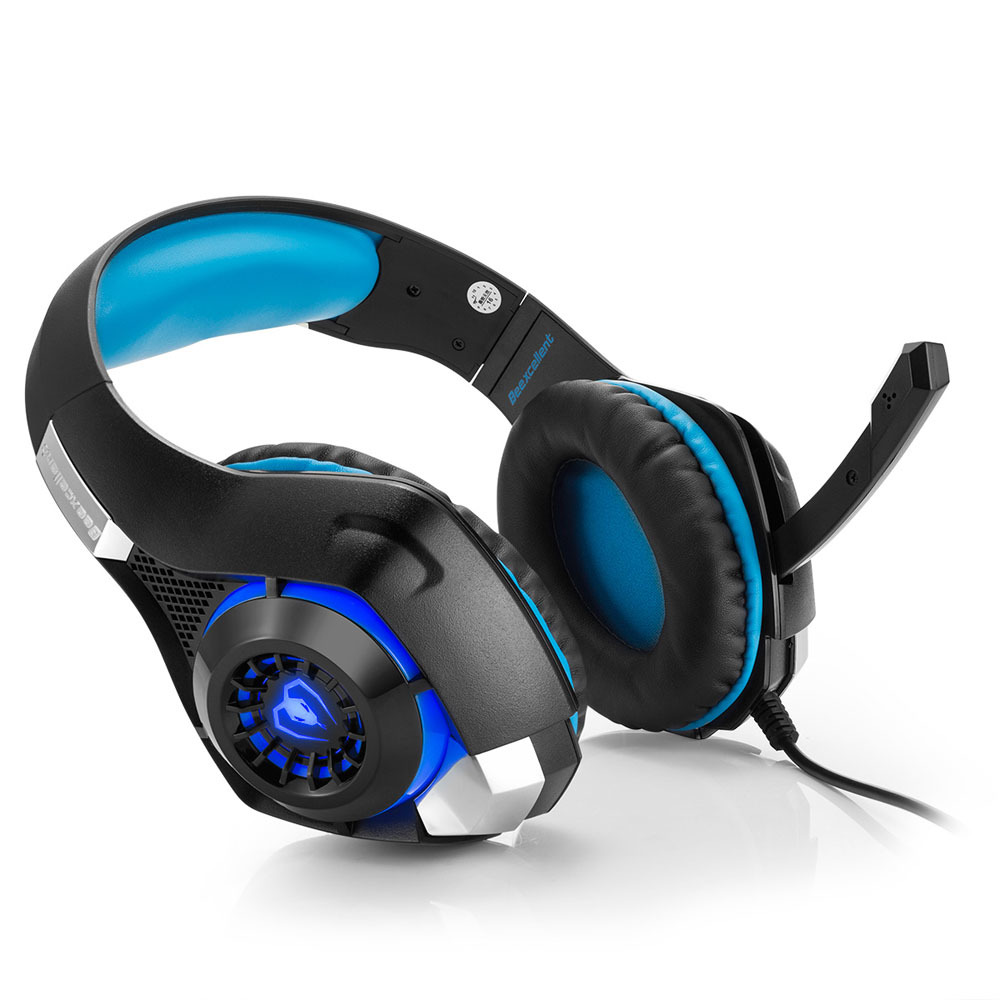 Beexcellent GM-1 Stereo Gaming Headset 2.1m Cable LED Light Super Bass Over-ear Headphones With Mic For Computer Game best computer gaming headphone headset over ear game headphones stereo deep bass led light with mic for computer pc