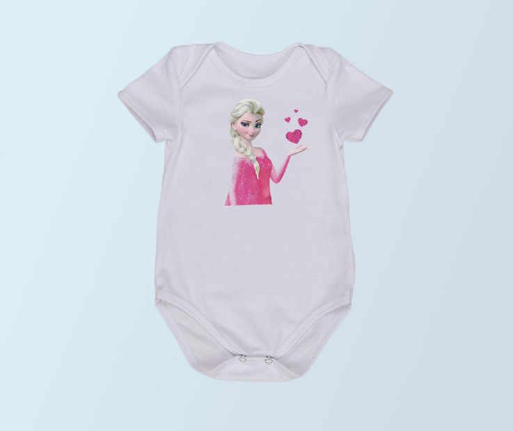 新生児女の子コスプレ衣装エルザ王女半袖ジャンプスーツ漫画の女の子幼児服 1st 誕生日プレゼント