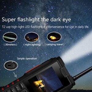 Image 4 - ioutdoor T2 IP68 Waterproof Shockproof Rugged Phone Walkie Talkie Mobile Phone Power Bank Flashlight 4500mAh Russian Keyboard
