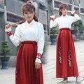 2017 primavera ruqun dinastía china tang hanfu traje de cosplay de las mujeres de manga larga dress costume