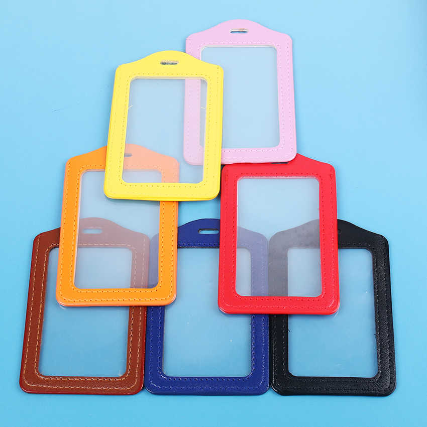 1PC ID Card Holder Border Lanyard Holes Badges Passport IC Card Name Tag Employee Badge Holder 11x7CM