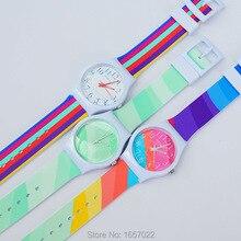 Топ бренд для женщин и мужчин повседневные цветные линии силиконовый ремешок модные кварцевые подарок наручные часы для дам платье спортивные часы