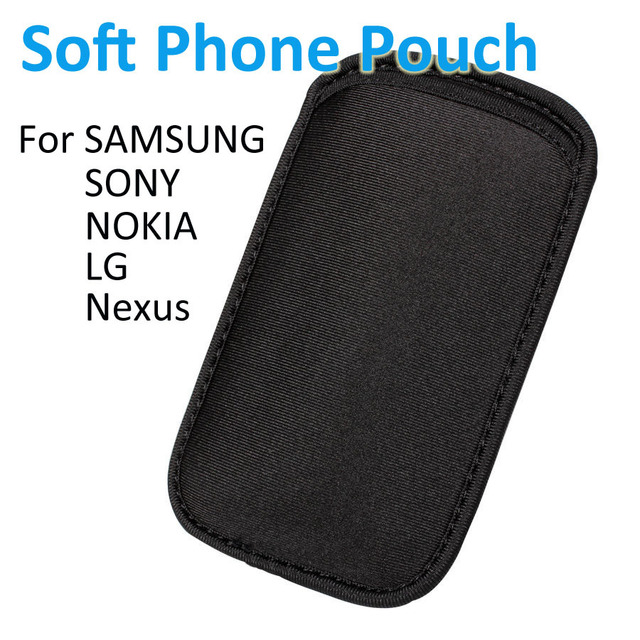 best service 9b1aa 67b8d US $1.99 |Black Elastic Soft Neoprene Shock Resistant Mobile Phone Sleeve  Case Pouch Cover For SONY SAMSUNG NOKIA LG Nexus HTC Handset on ...