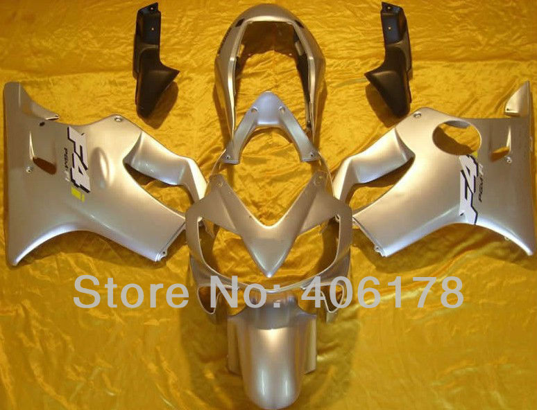 Hot Sales,04-07 CBR600 F4i Fairings Set For Honda CBR 600 F4i 2004-2007 Silver Motorcycle Fairings (Injection molding) hot sales custom fairing kit for honda cbr600 2004 2007 cbr 600 04 05 06 07 f4i red flame body set injection molding page 10