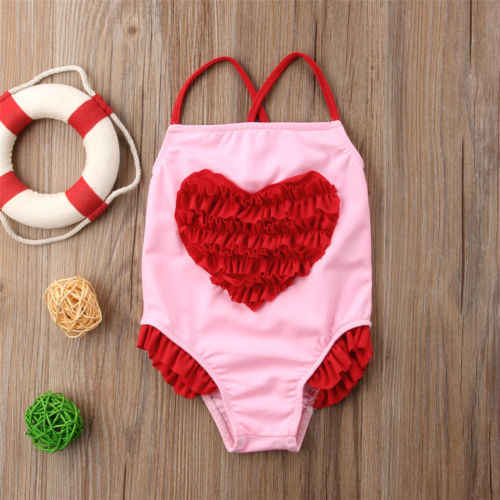 27cddf7cb1 Toddler Kids Baby Girls 3D Heart Print Bikini Swimwear Swimsuit Bathing  Suit Beachwear Beachsuit Hot Summer