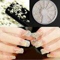 3D Blanco perla medio del grano Accesorios Del Arte Del Clavo Decoración Del Arte Del Clavo 2/3/4/5mm mezclar tamaño