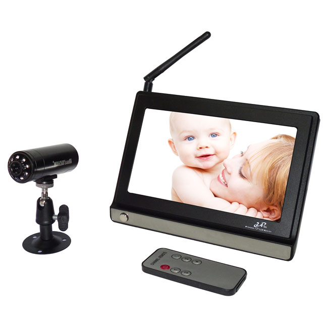 7 Inch Wireless Baby Monitor IR Nigh Vision Portable Wireless 2.4Ghz Wireless Camera