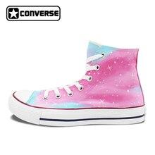 Converse Chuck Taylor Man Woman Pink Galaxy Design Hand Painted Shoes Boys  Girls b7cde2b87
