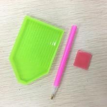 цена на Dotting Tool Nail Art Nails DIY Tools Dotting Pen 1pcs Rhinestones Box Plastic Plate 1pcs Gel Cube 1pcs 3pcs/Set