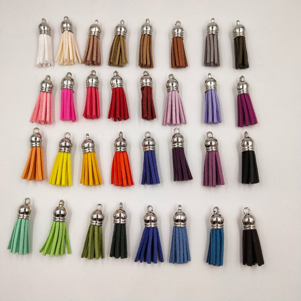 50pcs 38mm silver Vintage Leather Tassels/jewelry accessories/jewelry findings/earrings accessories
