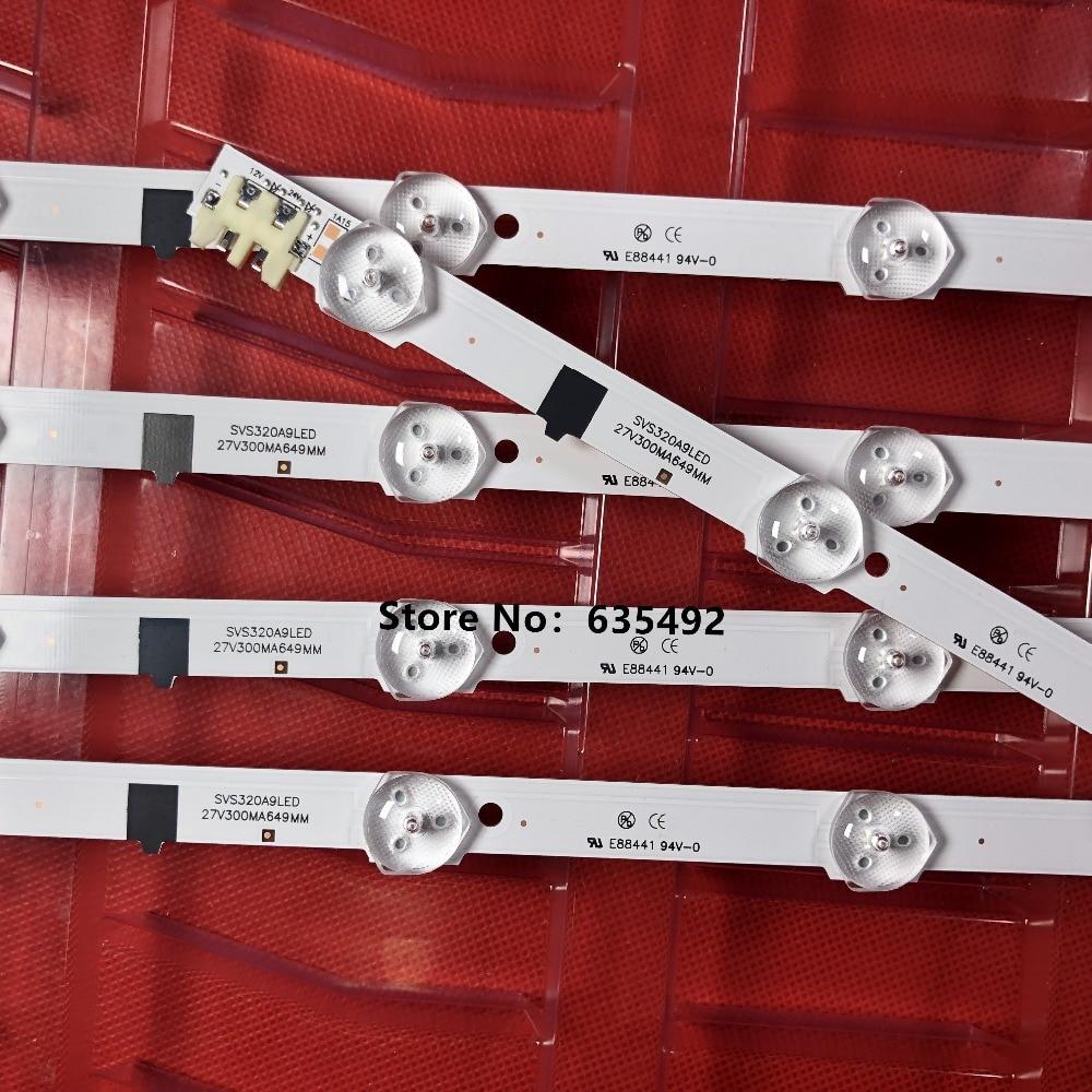 5 Pieces LED Strip For Sam Sung Sha Rp-FHD 32''TV D2GE-320SC1-R0 CY-HF320BGSV1H UE32F5000AK Ue32f5500aw UE32F5700AW HF320BGS-V1