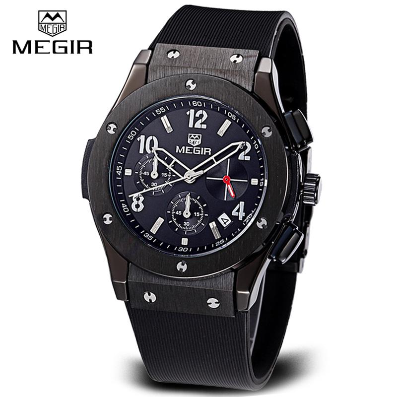 Prix pour Top Marque Megir Mâle Militaire Montres Casual Bracelet À Quartz Montres De Luxe CHRONOGRAPHE 24 Heures Fonction Hommes Sport Montres horloge