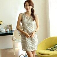 Women Bottoming Vest Skirt Dress Was Thin Slim Korean Summer Women Chiffon Lace Dress Cheap Clothes