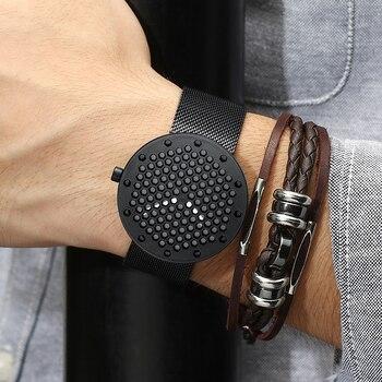 Fashion Mens Watches CRRJU Brand Luxury Leather Quartz Men Watch Casual Sport Clock Male Relogio Masculino Drop Shipping - discount item  51% OFF Men's Watches
