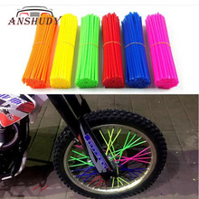 72pcs Motorcycle Dirt Bike Wire Wheel Rim Cover Spoke Bushing Skins Wrap Tubes Protector Kit Universal Colored Plastic Casing