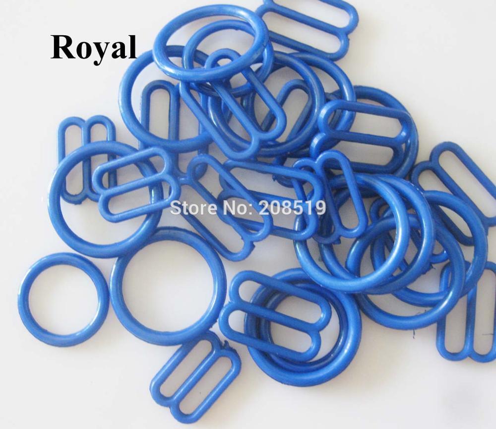 NBNLAE 100 шт. пряжки для бюстгальтера(50 шт. уплотнительное кольцо+ 50 шт. 8 слайдеров) красочные пластиковые пряжки нижнее бельё с пуговицами аксессуары - Цвет: royal as show