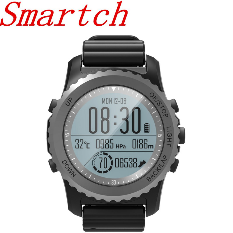Smartch S968 Sports Smart Watch Men IP68 Waterproof Wearable Devices Sleep / Heart Rate Monitor Bluetooth Smartwatch For IOS / A free shipping smart watch c7 smartwatch 1 22 waterproof ip67 wristwatch bluetooth 4 0 siri gsm heart rate monitor ios