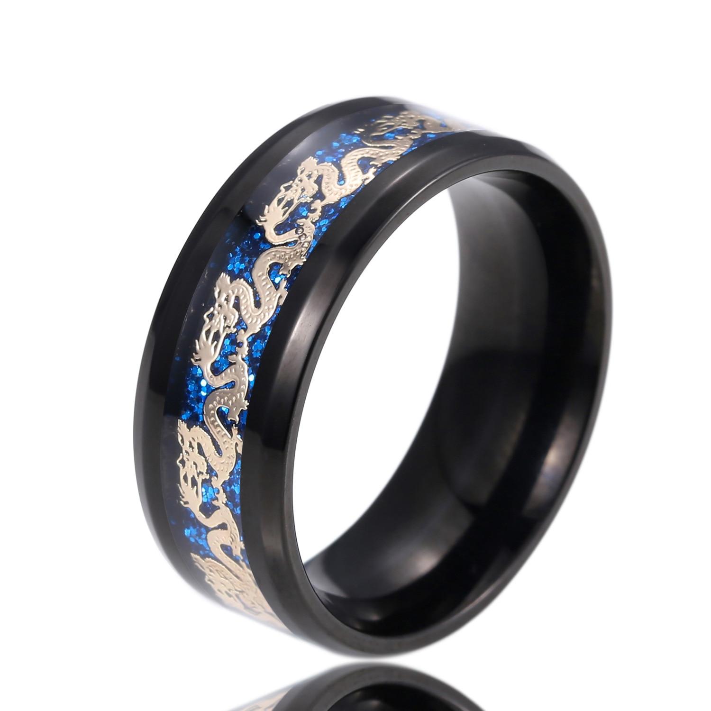 Dragon wedding rings for women gold color Stainless Steel men