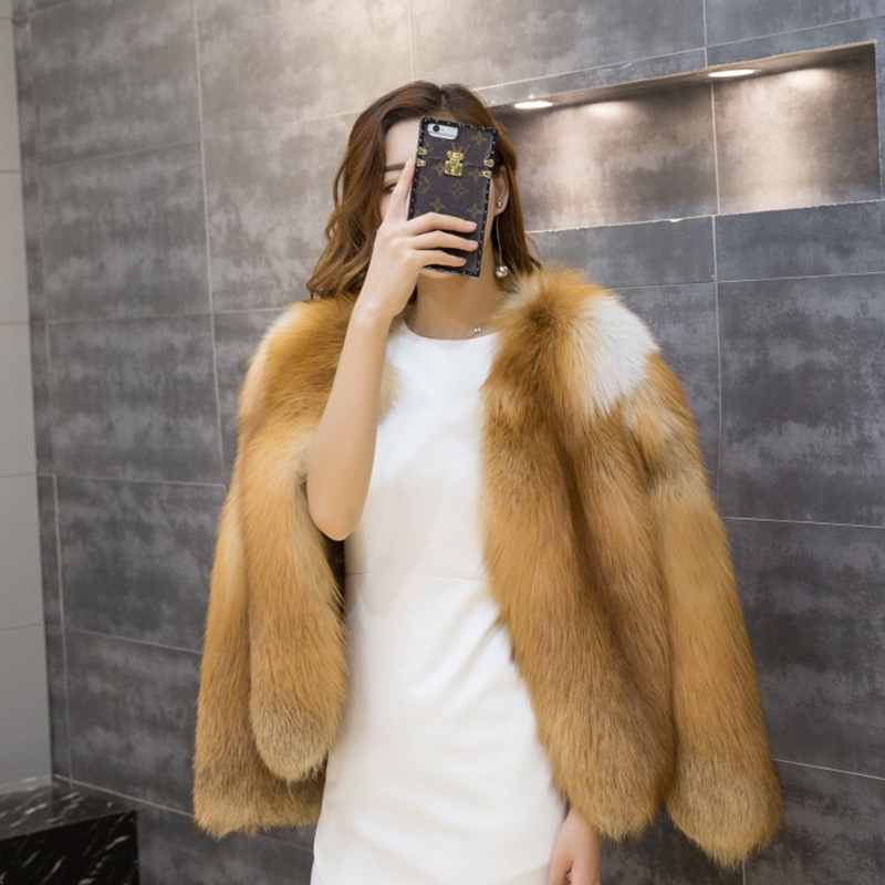 Épais Peau Fire Manteau L'ensemble Renard Fox Régulier Femmes De Réel Chaud Argent Veste Rouge Souple noir D'hiver Fourrure qgwxUqv