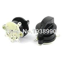 2pcs Latching Fan Speed Control 4 Position Rotary Selector Switch AC 250V 4A