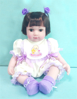 Collectible 16 inch vinyl silicone bebe toddlers Reborn Baby modeling dolls bebe Toys princess dolls kids birthday gifts toy