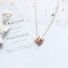 Аниме Сейлор Мун кулон Косплей бутафорские аксессуары Tsukino Usagi Ювелирное Украшение в форме сердечка ожерелье