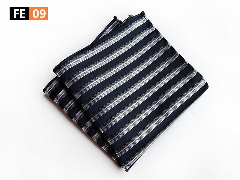 Fashion Men Striped Pocket Square 25x25cm Big Size Hanky For Wedding Party