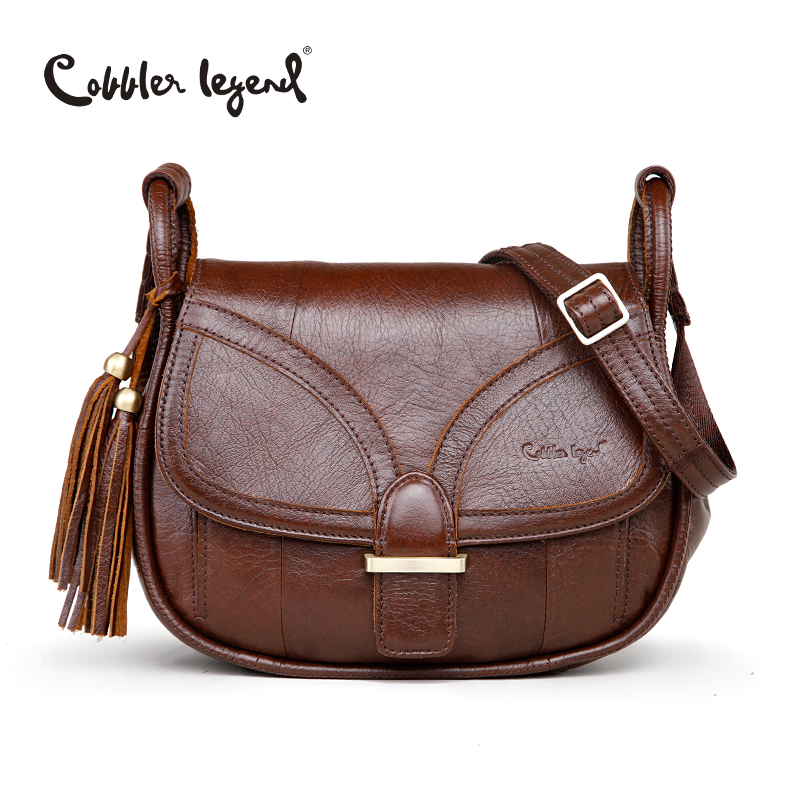 Genuine Leather Vintage Single Shoulder Bag Women's Shoulder Bags
