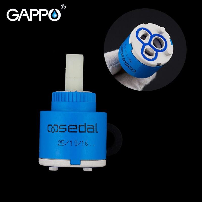 GAPPO Faucet Cartridges Ceramic Cartridge Mixer Low Torque Faucet Accessories Spindle Free Rotation Flat Base