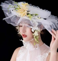 New Fashion White Wedding Hat Hot selling Women Hat Wedding Accessories for Women Accessories Bridal Hat