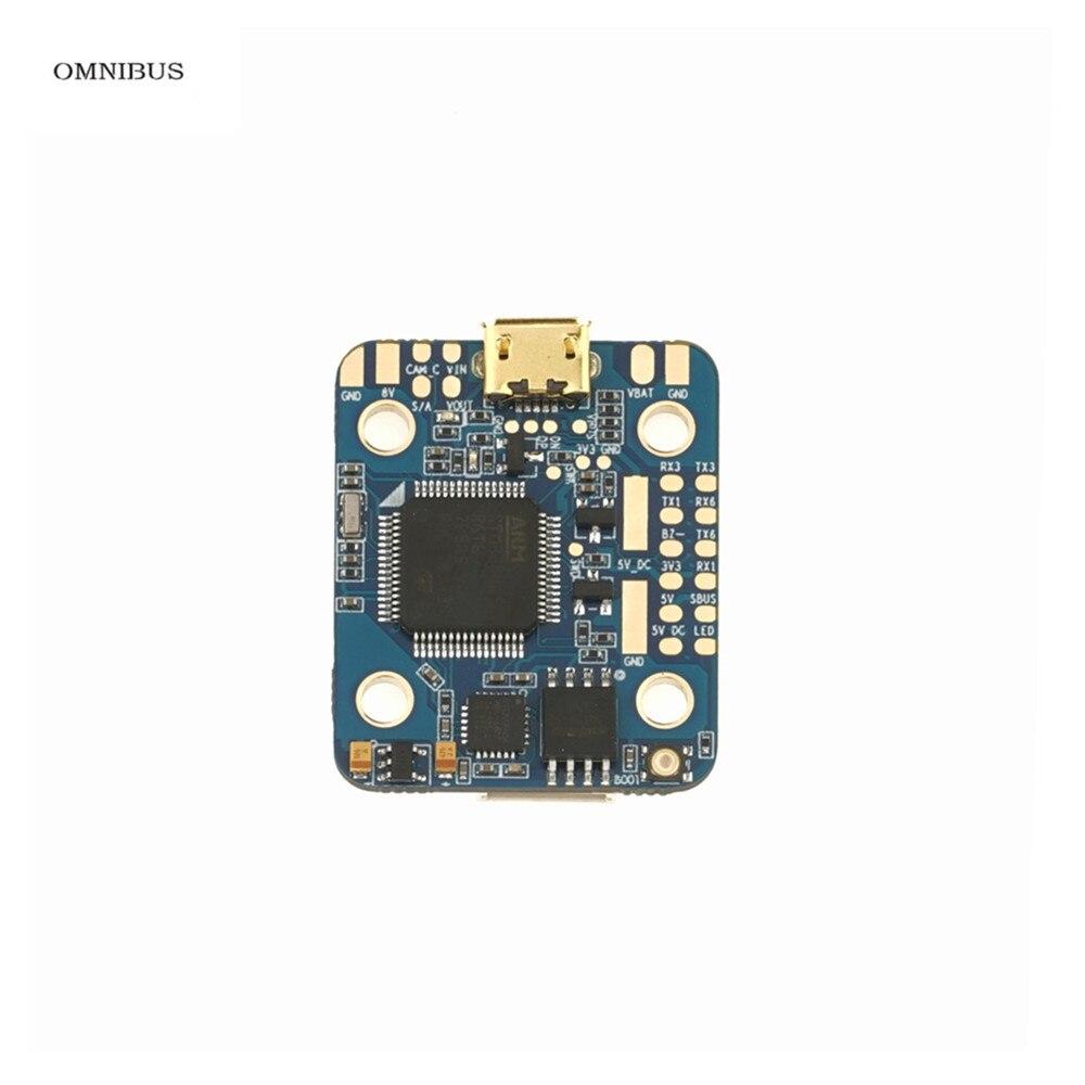 OMNIBUS F4 Nano V6 w LC Filtre STM32 F405 MCU MPU6000 BMP280 Barrometer Betaflight OSD À Bord Tension Capteur SBUS/PPM Entrée