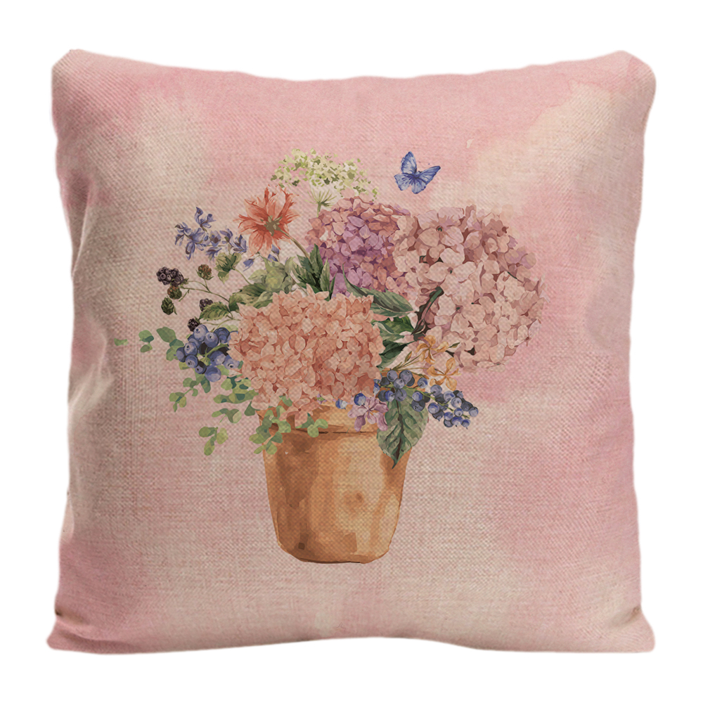 Hydrangea Flowers Printed Throw Pillow Case Decorative Cushion Cover Pillowcase By Lvsure For Car Sofa Seat Camellia