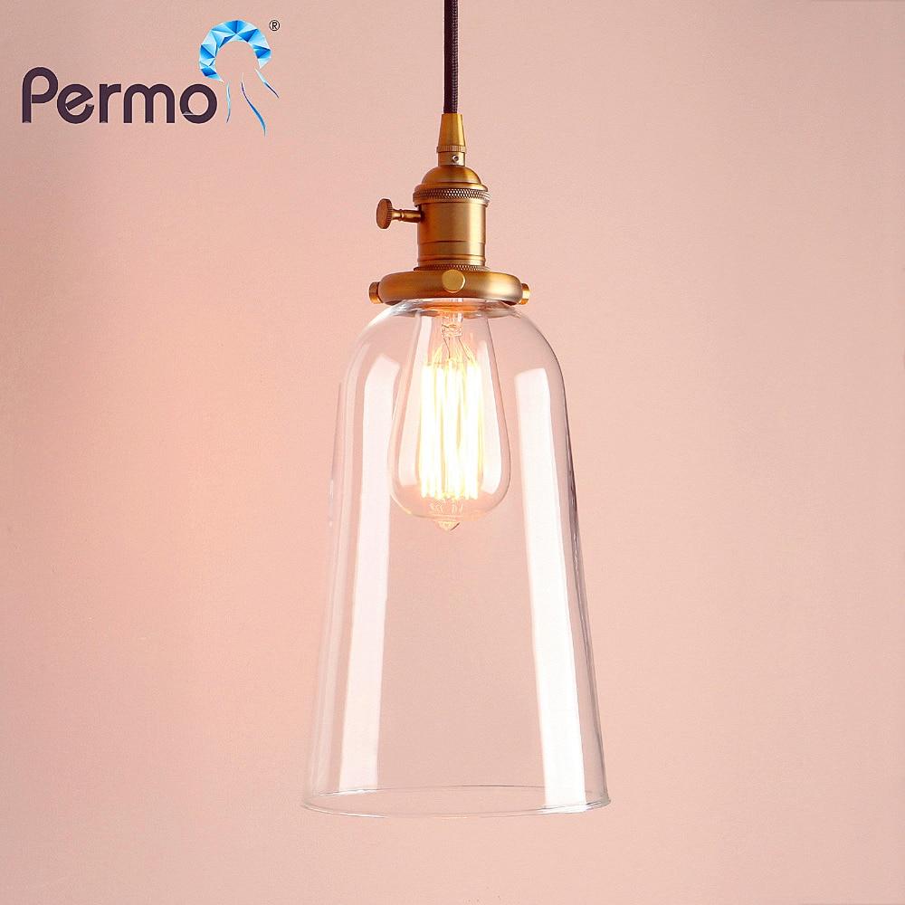 PERMO Vintage Pendant Lights Glass Rope Retro Luminaire Loft Pendant Ceiling Lamp Modern HangLamp Lights Fixture