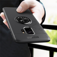 For Samsung galaxy S9 plus Case note 9 Silica gel case Car Holder Stand Magnetic Bracket Finger Ring TPU for