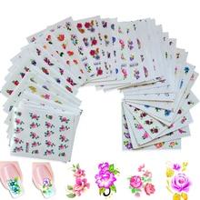 50 листов смешанных цветов переводные наклейки для ногтей Лето красивый салон слайдер DIY Декор Временные татуировки XF1001-1050