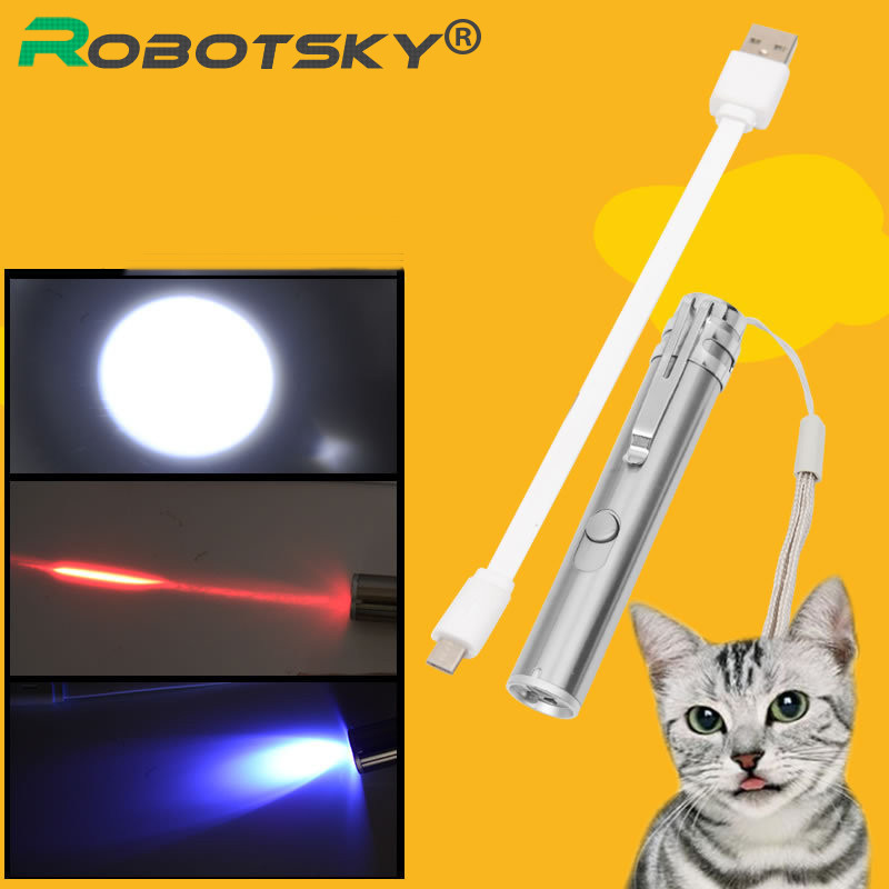 3 in 1 Multifunction Laser Pointer Pen Powerpoint Presenter Red Lazer Pen with Micro USB Charger Cable