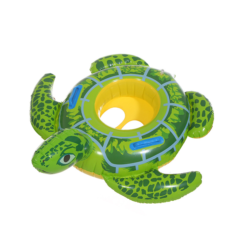Baby Swimming Ring Inflatable Infant Seat Floating Kids Swim Pool Accessories Circle Tortoise Cute Animals pool (2)