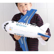 Childrens Large Anti-shock Simulation Inertia Aircraft Model Toy Passenger Plane with 6 Storage Cars Toys for Kids