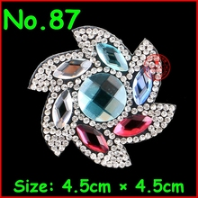 3Pcs/Lot Hot Fix Rhinestones Transfer Design For Nail Art Flower Rhinestone Crystal Motif Diy women Mobile phone decoration DIY