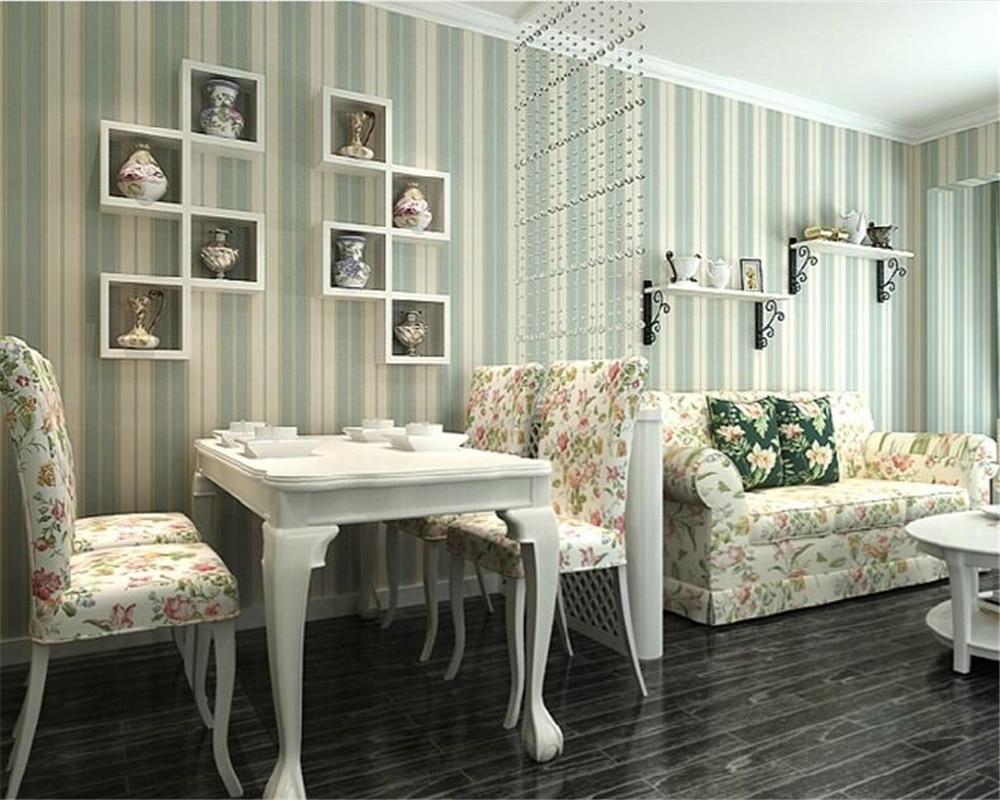 ФОТО Beibehang Mediterranean green pearl wallpaper fresh living room study American striped wallpaper roll papel de parede wallpaper