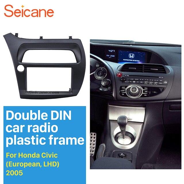 Seicane Double Din Car Radio Fascia Para 2005 2011 Honda Civic Hatchback  Civic DVD Painel