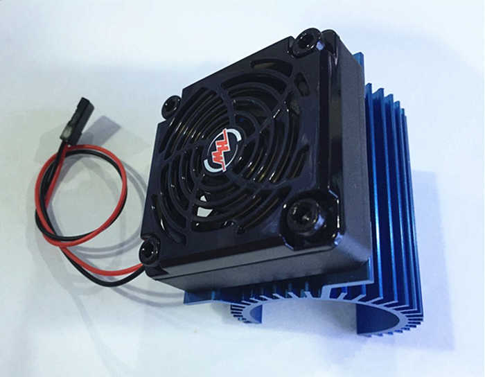 Hobbywing 5V Fan 2S and  Motor Combination C1 Motor Heat Sink  for EZRUN 3660 3665 3674  RC Racing Car Brushless Motor F22285