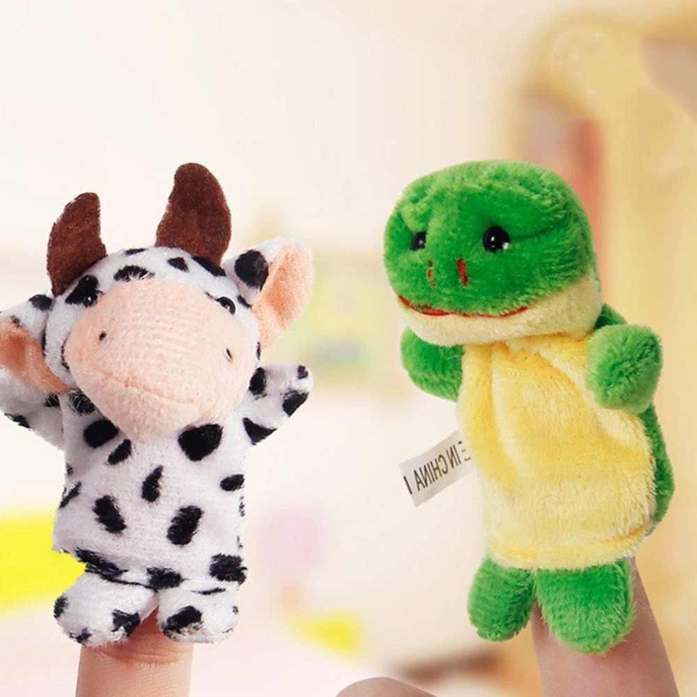 Felpa Animal bonito regalo para niños bebé de doble capa cuentacuentos Props niños juguetes regalos juego divertido bebé Plushs juguete creativo muñecas pequeñas