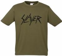 Camiseta impresa Camisas hombres online crew moda Masajeadores de cuello Slayer nueva caqui rare camiseta s 3xl Thrash Speed metal sepultura banda kreator