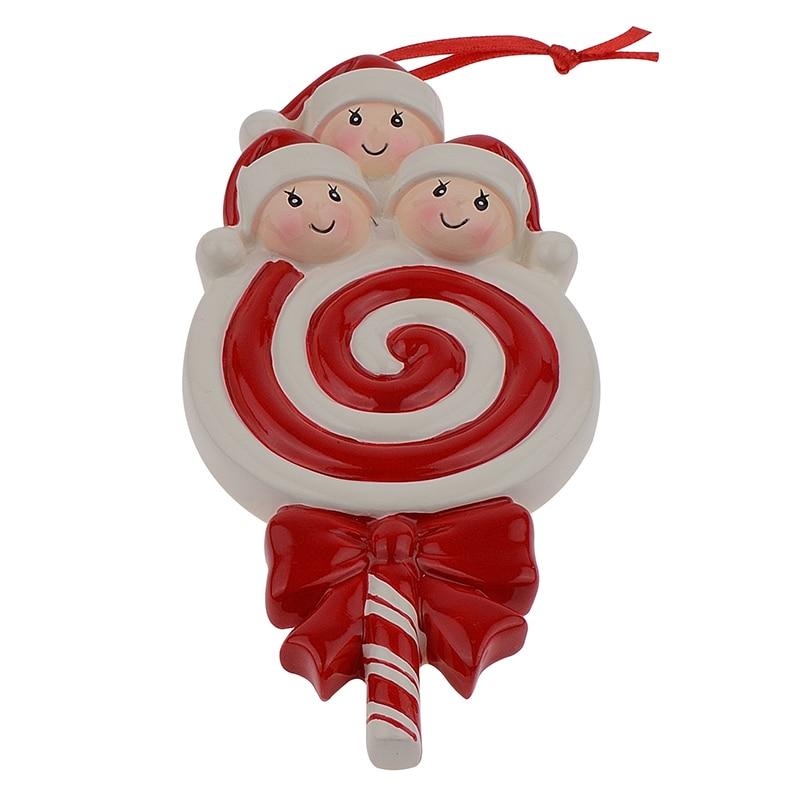 Lollipop Familia de 3 Resina Bebé Brillante Adornos para Árboles de - Para fiestas y celebraciones - foto 3