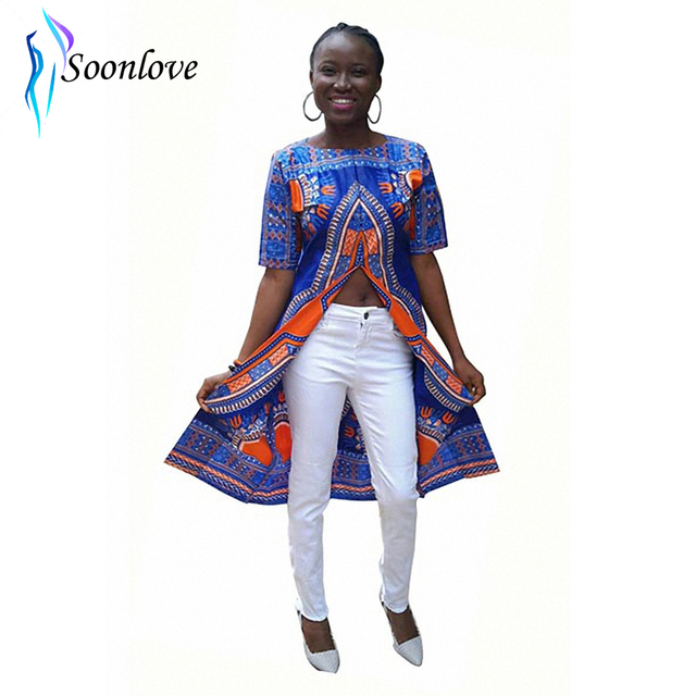 c2567b2caaf Womens Traditional African Print Dashiki Bodycon Sexy Short Sleeve Bohemian  Dashiki Long T-Shirts