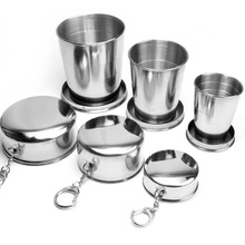 Outdoor Stainless Steel Folding Retractable Cup